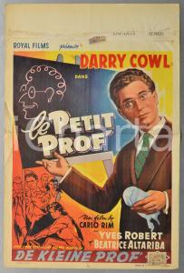 1959 LE PETIT PROF - DE KLEINE PROF Darry COWL - Manifesto 36x54 cm DANNEGGIATO
