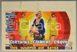 1959 CERTAINS L'AMENT CHAUD Some like it hot - Marylin MONROE Manifesto 35x54 cm