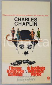 1968 CHARLES CHAPLIN L'homme le plus drôle du monde - Manifesto 32x54 cm