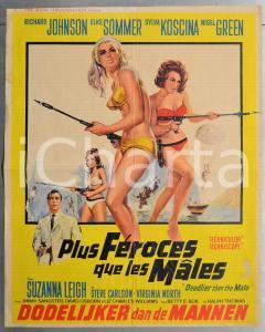 1967 PLUS FÉROCES QUE LES MÂLES Sylva KOSCINA Elke SOMMER Manifesto 47x60 cm