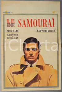 1968 LE SAMOURAIAlain DELON Jean-Pierre MELVILLE - Manifesto 35x54 cm