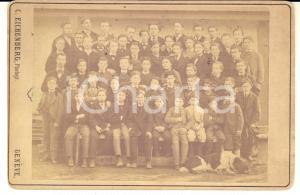 1873 LA NEUVEVILLE (CH) Collegio MORGENTHALER - Allievi - Foto RARA 17x11
