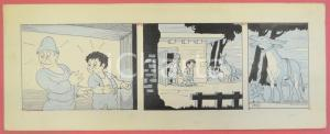 1950 ca DUTCH COMIC by A. REUVERS Original comic strip n.63 - ORIGINAL ART