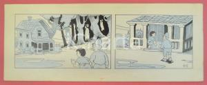 1950 ca DUTCH COMIC by A. REUVERS Original comic strip n.61 - ORIGINAL ART