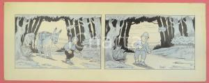1950 ca DUTCH COMIC by A. REUVERS Original comic strip n.49 - ORIGINAL ART