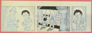 1950 ca DUTCH COMIC by A. REUVERS Original comic strip n.45 - ORIGINAL ART