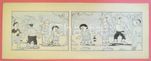 1950 ca DUTCH COMIC by A. REUVERS Original comic strip n.10 - ORIGINAL ART