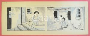 1950 ca DUTCH COMIC by A. REUVERS Original comic strip n.17 - ORIGINAL ART