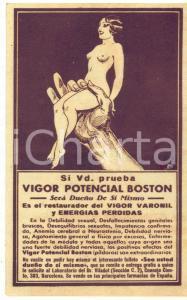 1930 ca ESPAÑA - VIGOR POTENCIAL BOSTON Debilidad sexual *Tarjeta postal