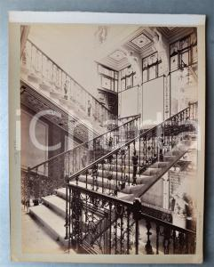 1900 ca GREECE CORFU - Achilleion Palace - Main staircase ^Albumen photo 24x30