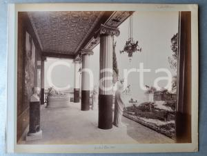 1900 ca GREECE CORFU Island - Achilleion Palace (2) Albumen photo 30x24 cm