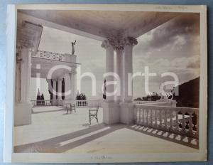 1900 ca GREECE CORFU - Achilleion Palace - Terrace - Albumen photo 30x24 cm