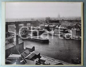 1900 ca NEWCASTLE-UPON-TYNE - View - Albumen aerial photo 30x24 cm