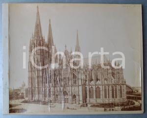 1900 ca KÖLN / COLOGNE - View of the Cathedral - Albumen photo 30x24 cm