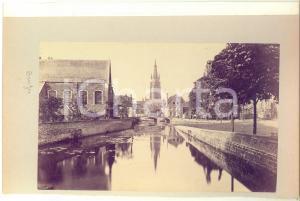 1900 ca BRUGES (BELGIUM) - View - Albumen old photo 24x16 cm