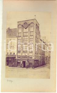 1900 ca BRUGES (BELGIUM) House Bouchoute - VAN VLAENDEREN shop - Photo 15x23 cm