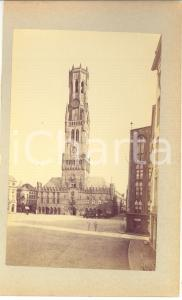 1900 ca BRUGES (BELGIUM) Market Square and Belfry Tower - Photo 15x23 ANIMATED