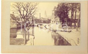 1900 ca BRUGES (BELGIUM) Vue avec le Pont du Béguinage - Photo 23x15