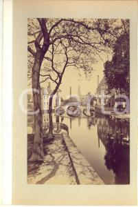 1900 ca BRUGES (BELGIUM) Vue avec le Pont du Béguinage - Photo 16x23