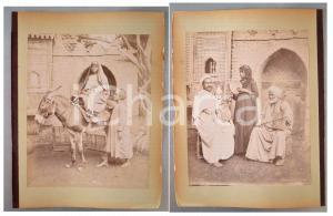 1880 ca EGYPTE - Adelphoi ZANGAKI - Dame negresse - Mousique arabe *2 photos