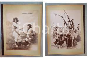 1880 ca EGYPTE - Adelphoi ZANGAKI - Bédouins Bichari - Chalouf *2 photos
