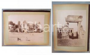 1880 ca EGYPTE - Adelphoi ZANGAKI - Scène Haute Egypte - Denderah *2 photos
