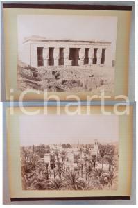 1880 ca EGYPTE - Adelphoi ZANGAKI - Temple Athor Denderah - Assiout *2 photos