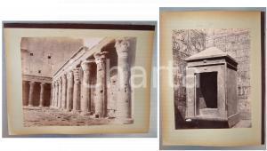 1880 ca EGYPTE - Adelphoi ZANGAKI -  EDFOU Première cour - Naos *2 photos