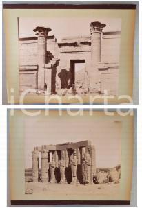 1880 ca EGYPTE - Adelphoi ZANGAKI - THEBES Temple Touthmes et Ramses - 2 photos