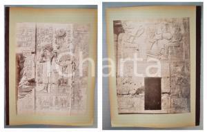1880 ca EGYPTE - Adelphoi ZANGAKI - ABYDOS Temple de Seti *2 photos