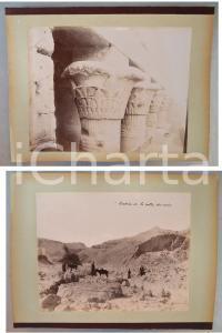 1880 ca EGYPTE - Adelphoi ZANGAKI - Entrée Vallée des Rois - Temple *2 photos
