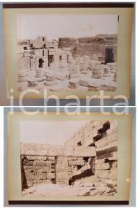 1880 ca EGYPTE - Adelphoi ZANGAKI - MEDINET HABU Tombe de Ramses III *2 photos