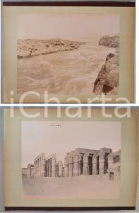 1880 ca EGYPT - Adelphoi ZANGAKI Assouan - Antonio BEATO Luxor *2 photos