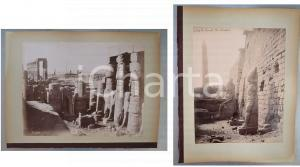 1880 ca EGYPTE - Adelphoi ZANGAKI - LUXOR Temple et statues - 2 photos ANIMEES