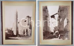 1880 ca EGYPTE - Adelphoi ZANGAKI - Temples LOUXOR et KARNAK - 2 photos ANIMEES