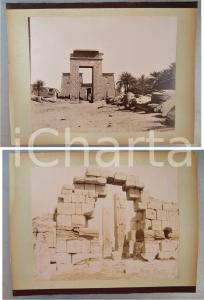 1880 ca EGYPTE - Adelphoi ZANGAKI - KARNAK Ruines - 2 photos ANIMEES