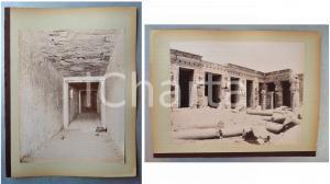 1880 ca EGYPTE - Adelphoi ZANGAKI - THEBES Tombeau / Memnonium Ramses - 2 photos