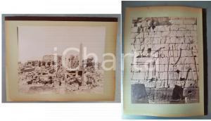 1880 ca EGYPTE - Adelphoi ZANGAKI - KARNAK Ruines - Salle Touthmes - 2 photos