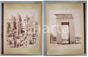 1880 ca EGYPTE - Adelphoi ZANGAKI - KARNAK Grand Temple - 2 photos
