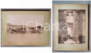 1880 ca EGYPTE - Adelphoi ZANGAKI - Ile Elephantine - Temple KARNAK - 2 photos