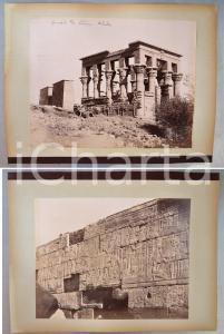 1880 ca EGYPTE Adelphoi ZANGAKI Phylae Kiosque d'Isis - A. BEATO Temple 2 photos