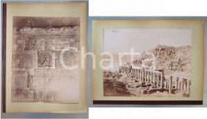 1880 ca EGYPTE Adelphoi ZANGAKI - Phylae Temple d'Isis - Bibliothèque *2 photos