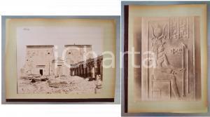 1880 ca EGYPTE Adelphoi ZANGAKI - Phylae Temple d'Isis - Façade *2 photos