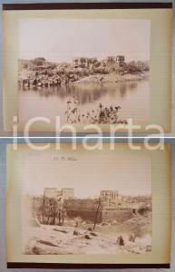 1880 ca EGYPTE Adelphoi ZANGAKI - PHYLAE Vue - Côté nord *2 photos
