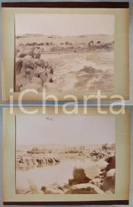 1880 ca EGYPTE Adelphoi ZANGAKI - Cataractes du Nil / KONOSSO *2 photos