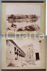 1880 ca EGYPTE - Adelphoi ZANGAKI - PHYLAE Temple - Vue *2 photos