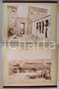 1880 ca EGYPTE - Adelphoi ZANGAKI - PHYLAE Temple d'Isis - Vue *2 photos
