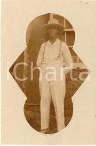 1930 ca CONGO BELGA - Europeo in abbigliamento coloniale - Foto 7x10 cm