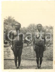 1930 ca CONGO BELGA - Coppia di pigmei - Foto 7x10 cm