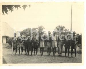 1930 ca CONGO BELGA - Tribù di pigmei (2) Foto 10x8 cm